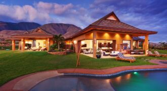 Home family with pool